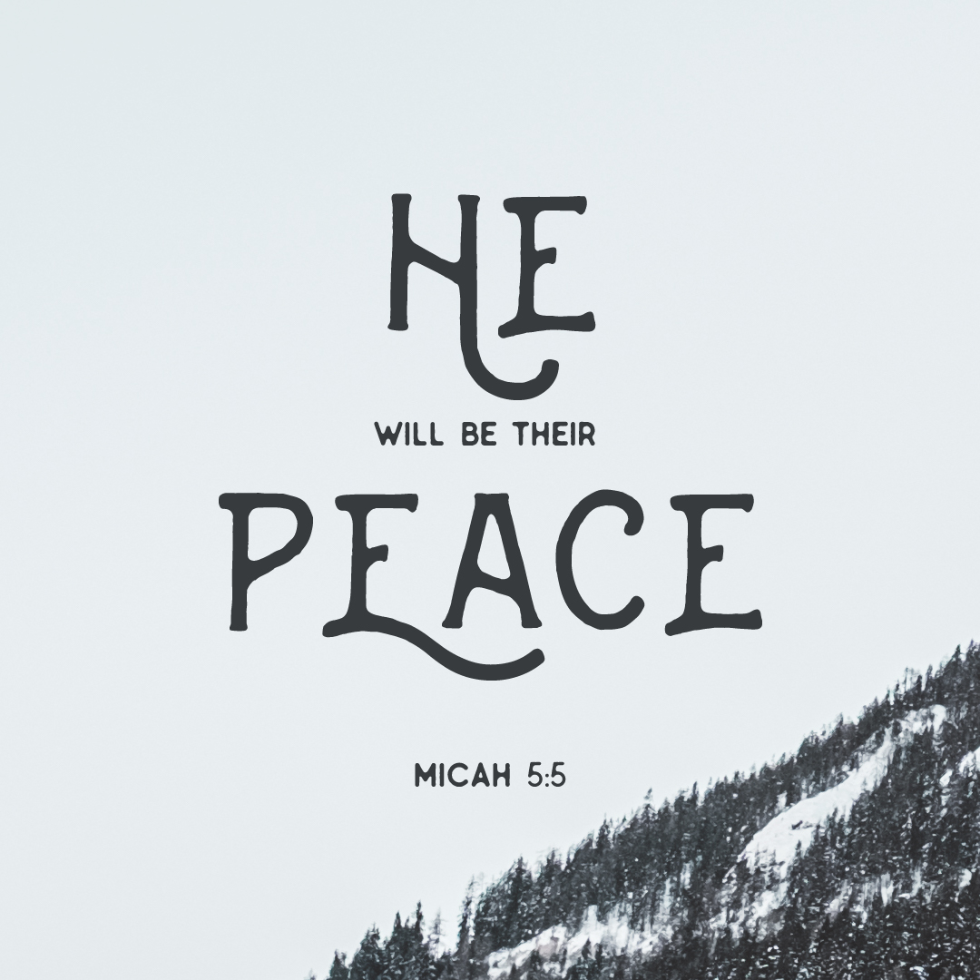 He will be their peace