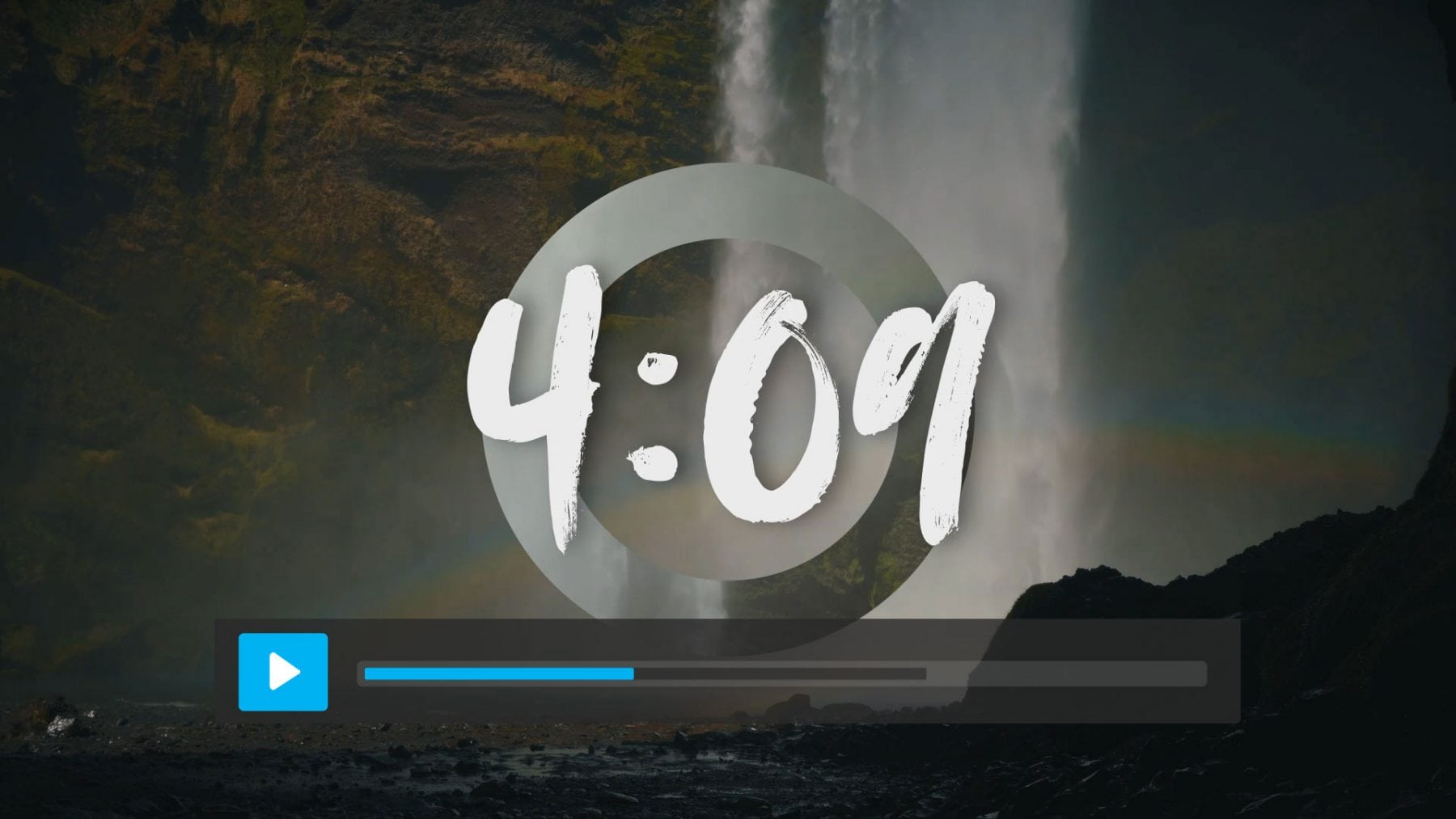 Waterfall Circle Countdown